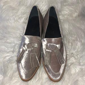 Rebecca Minkoff crushed velvet loafers size 8